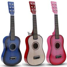 Children Kids Musical Instrument 23 inch Acoustic Guitar with Pick 4 Colors