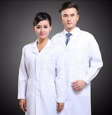 Mens Womens White Laboratory Robes Coat Scrub Medical Doctor's Outwear