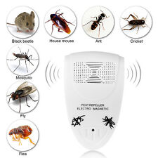 US/EU Plug Ultrasonic Electronic Mosquito Pest Bug Insect Rat Repeller Reject WD