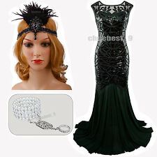 Prom Gown 1920s Flapper Dresses Great Gatsby Party Evening Long Bridesmaid Dress