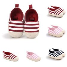 Infant Newborn Toddler Cute Prewalkers Crib Soft Sole Shoes Striped Casual Shoes