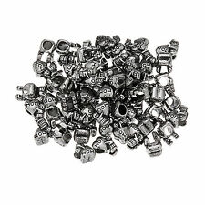 DIY beads Tibetan style 1/10/20/50/50pcs Big Hole Charm Tibetan Silver  Beads