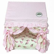 New Princess Handmade Warm Curtain Pet Dog Cat Bed House Sofa Frame Bed Size SML
