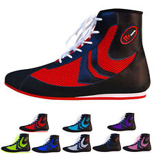 ZstarAX Boxing Boots Shoes Rubber Sole Boots Leather & Mesh  Junior & Adults