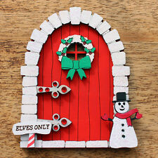 Hand Painted Christmas Fairy Elf Door ~ different colours available