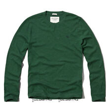 NEW ABERCROMBIE & FITCH for MEN * A&F Meacham Lake L/S Tee T Shirt * Green M-XL