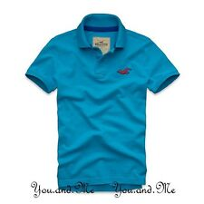 NEW HOLLISTER S/S COTTON LOGO POLO SHIRT for MEN Wipeout BeachTurquoise S M L XL