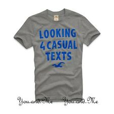 NEW HOLLISTER S/S LOGO GRAPHIC TEE T SHIRT for MEN *Point Vincente* Grey M L XL