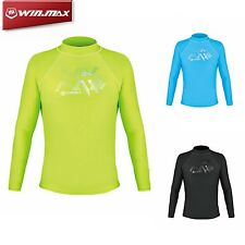 WM Lycra Long Sleeve Wetsuit Shirt Scuba Diving Swimming Surfing Rash Guard Men