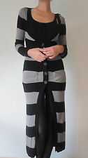Brand New Planet Black/ Grey Long Cardigan RRP £97.99 Size X Small (PL01)
