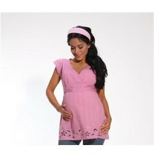 NEW Beautiful Maternity Empire Waist Pink Top w Cut Out Detail ~ S,M,L,XL **