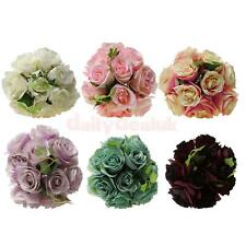 Rose Artificial Silk Flower Arrangement Hydrangea DIY Wedding Decor 6 Colors