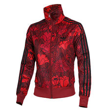 New amazing Adidas 2016/17 Black & Red Firebird Track Jacket for women's AY7946