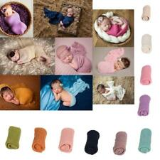 Newborn Baby Stretch Wrap Photo Photography Prop Knit Baby Blanket