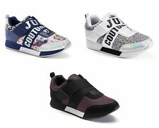 NEW! Juicy Couture Womens Athletic Sneakers Trendy Metallic Unique Fashion NIB