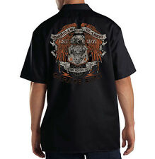 Dickies Black Mechanic Work Shirt American Classic Custom Motorcycles Est. 1971
