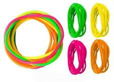 90'S Retro Bright Neon Shag Bands Rubber Bracelets Four Pink Green Bangle's