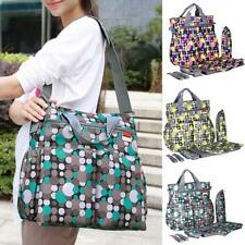 6Pcs/set Multifunctional Baby Diaper Changing Shoulder Bag Mummy Tote Nappy Bag
