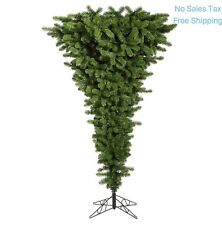 Upside Down Christmas Tree Green Pre-Lit LED White Lights Artificial Vickerman