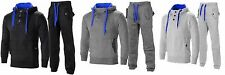 Mens Fleece Full Tracksuit Hooded Sweatshirt Jogging Bottoms Size S M L XL XXL