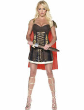 Ladies Sexy Fever Gladiator Warrior Soldier Princess Fancy Dress Costume