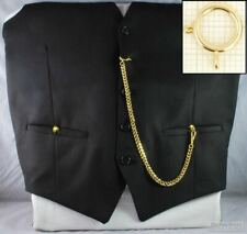 Straight pocket watch chain w/ a large spring ring; various finish options