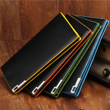 Billfold Wallet Men's PU Leather Black Credit/ID Card Holder Slim Purse New Gift