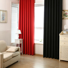 Blackout Curtains Solid Color Curtains Solid Color Transparent Proof Curtain Hot