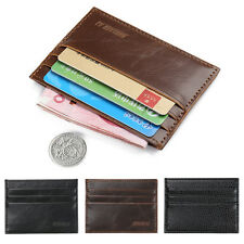 Simple Men's Leather Slim Credit ID Card Holder Wallet Case Purse Bag Purse Gift
