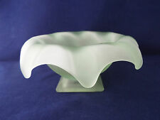 Art Deco Bagley Frosted Green Large Equinox Posy Vase