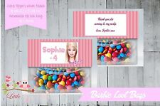 PERSONALISED BIRTHDAY PARTY LOLLY/LOOT BAG & TOPPER - BARBIE