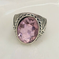 Vintage 316L Stainless Steel Vogue Design Mini Stone Ring New Size 8 9 10 11  @