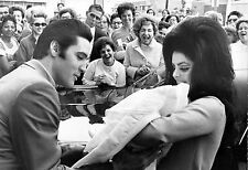 Elvis Presley and Priscilla with Lisa Marie February 1968, Photo Print