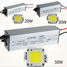 20W~50W New High Power White LED Light Lamp Chip Panel & Power Driver Waterproof