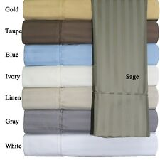 Standard Pillowcases Striped 650 Thread Count  Combed-Cotton-Blend Wrinkle-Free