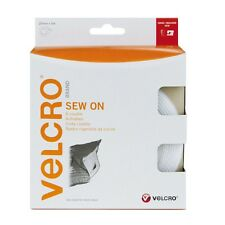 VELCRO Brand Hook and loop sew on stitch on tape in WHITE 2CM wide