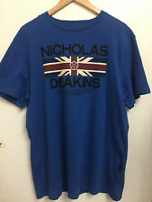 "Men's Nicolas Deakins T-Shirt in Blue (XXL Chest 46"")"