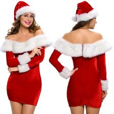 Ladies Miss Mrs Santa Claus Christmas Xmas Party Costume Fancy Dress Sexy Outfit