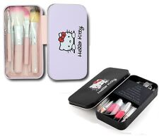NEW Hello Kitty Pink, Black Makeup Brushes Set Pro Quality Cosmetic Brushes Tool