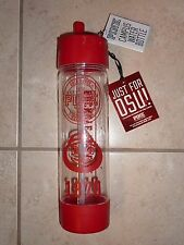"VICTORIAS SECRET PINK ""PINK"" 24oz OHIO STATE ""BUCKEYES"" WATER BOTTLE NWT"