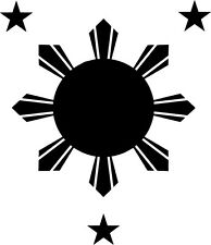 Philippines Flag Style B Vinyl Sticker Decal Sun and Stars - Choose Size & Color