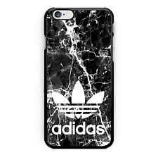 NEW ADIDAS Logo Custom Black Marble Print Hard Plastic Cover Case For iPhone 7