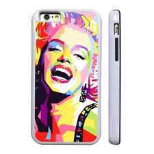 MARILYN MONROE ART WHITE PROTECTIVE PHONE CASE COVER FITS IPHONE 4 5 6 7