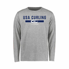 USA Curling Youth Ash NGB Team Strong Long Sleeve T-Shirt