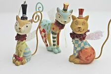 GISELA GRAHAM CHRISTMAS RESIN FANTASY CIRCUS CAT FAIRY DECORATION