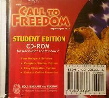 Call to Freedom : Beginnings to 1877 Student Edition on CD HOLT 2005   Free Ship