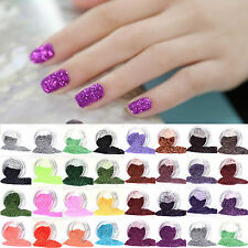 38 Color Glitter Dust Powder Decoration for Nail Art UV GEL Acrylic TIPS DIY Hot