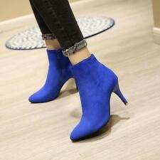 Womens Ankle Boots Sexy High Stiletto Heels Pointy Toe Boots Pumps#US Size10.5