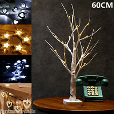 LED Bonsai Lamp Silver Birch Twig Tree Light Fairy String Lights Indoor Outdoor