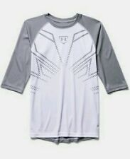 NEW! MENS UNDER ARMOUR PERFORMANCE UA BASEBALL SLEEVE SHIRT-SIZE Boys